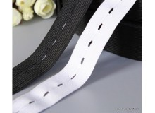 *R00553(10/3)* Elastic band: Adjustable Elastic Black/White 2.0cm-2.5cm