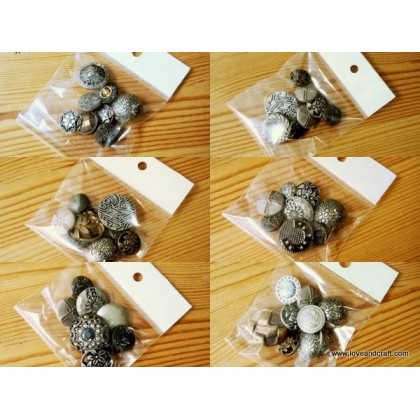 *B00322(SALE)* Assorted Vintage Resin Buttons (12pcs) - Clearance