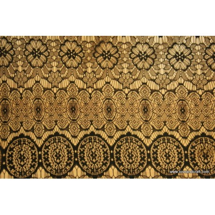 *FH00101(SALE)* Fabric: Black Lace 150cm width CLEARANCE