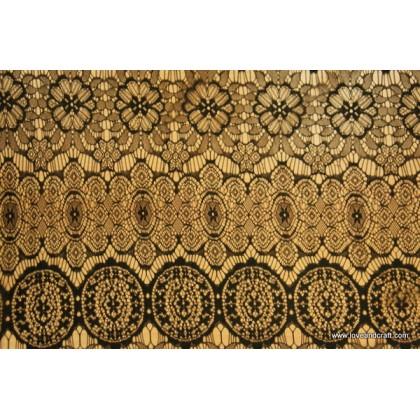*870006(SALE)* Fabric: Black Lace 150cm width CLEARANCE