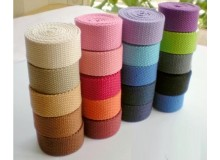 *R00402-* Cotton Canvas Webbing: Assorted Colors 3.2cm (3 meters)
