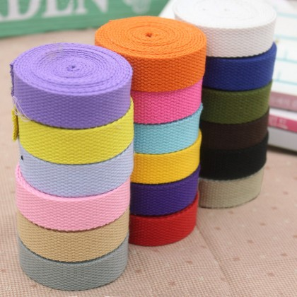 *700400* Cotton Canvas Webbing: Assorted Colors 2.0cm (3 meters)