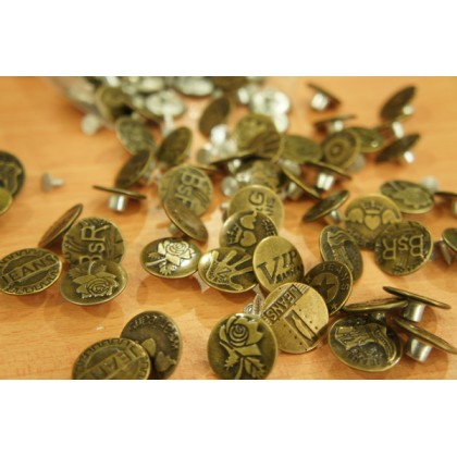 *B00220(10/3)~* Hammer On Jeans Tack Buttons 2.5cm