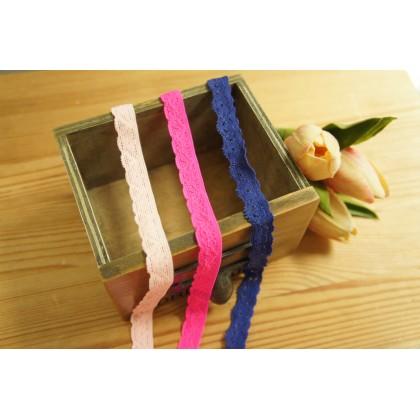 *700565* Elastic Lace: Flower Lace 1.2cm