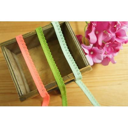 *700576* Elastic Lace: Pastel Lace 1.0cm
