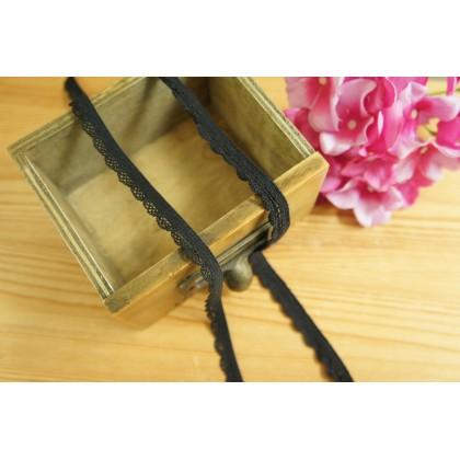 *700577* Elastic Lace: Black arch 1.0cm