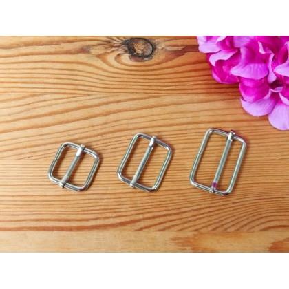 *T00304~* Triglide/Adjuster/Slider: Silver 2.0cm-3.2cm