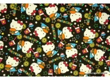 *FV212-* Canvas: Colorful Foodie Hello Kitty on Black