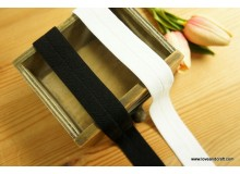 *R582-* Elastic Band: Black and White Band 2.5cm