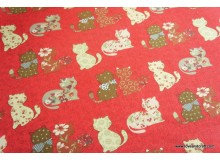 *FV227* Canvas: Cats on Red