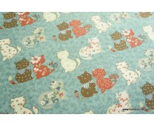*FV228* Canvas: Cats on Blue