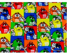 *FT02709* Jersey Knit: M&M Red Green Square
