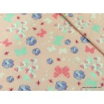 *FN02745* Jersey Knit: Sakura Flower and Butterfly (160cm)