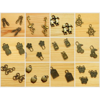 *J100~* Assorted Charms / Zip Head ~BUY 5 FREE 1~