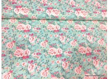 *FV00240* Canvas: Pastel Rose on Turquoise 140cm