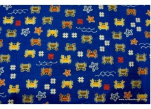 *FC00808* Japanese Cotton : Small Crab on Royal Blue (110cm)