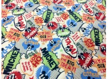*FN02784(SALE)* Jersey knit: Ta-da Mickey Big Idea (180CM)