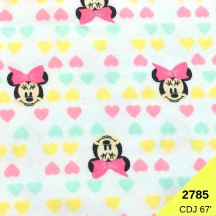 **902785L* Double Knit Jersey: Minnie and Little Love (170cm)