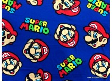 *FN02787(SALE)* Jersey knit:Super Mario on Royal Blue (170cm)