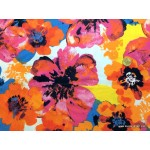 *FN02852* Lycra knit :Shocking Big Flower (160cm)