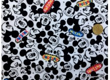 *FN02865(SALE) * Double Knit Jersey :Awesome Mickey Head Black(180cm)