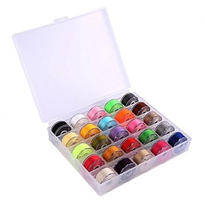 *T00322~* Plastic Bobbin and Storage Box / Case Set