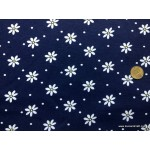 *FN02873* Jersey knit :Flower Daisy on Navy Blue (170cm)