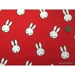 *FN02889* Double Knit Jersey:Rabbit on Red (180cm)