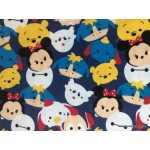 *FN02913* Lycra knit :Tsum Tsum on Navy (150cm)