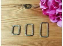 *T00328(10/3)-* Rectangular ring: Silver 2.0-3.2cm