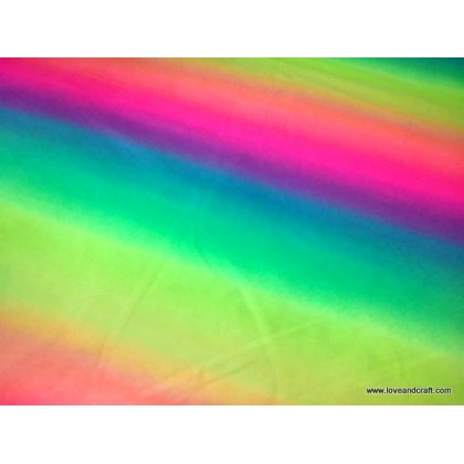 *902954* Lycra Knit:Rainbow Gradient (160cm)