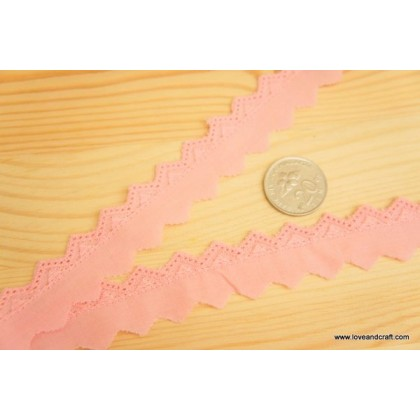 *700386* Embroidery lace: Triangular pinky fabric lace 2.3cm
