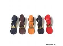 *T00351* Cow Leather Snap Buckle / Lock: Adjustable Lock Shape