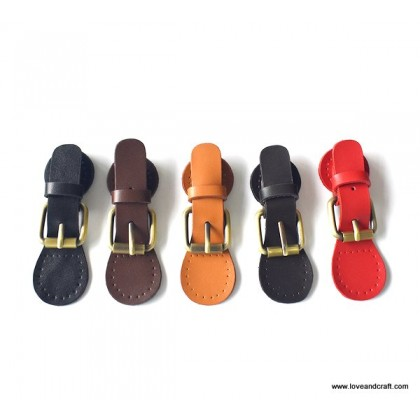 *T00351* Cow Leather Snap Buckle / Lock: Adjustable Lock Shape