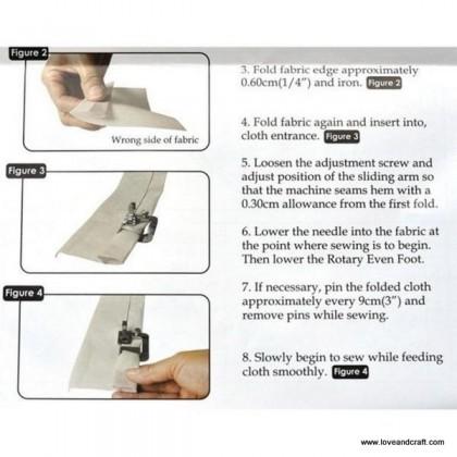 *T00354~* Footer: Rolled Hem Presser Foot 3 sizes