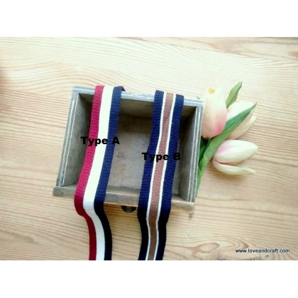 *700588* Soft Webbing: Tricolour Stripes (2.5cm)