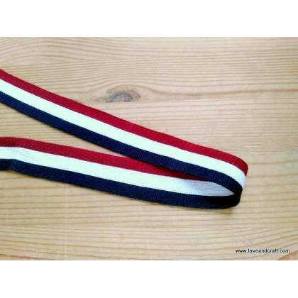 *700588* Soft Webbing: Tricolour Stripes (2.5cm)
