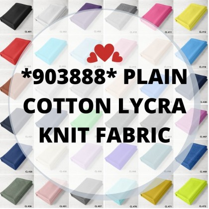 *903888* Lycra Knit: CL Plain Cotton Lycra