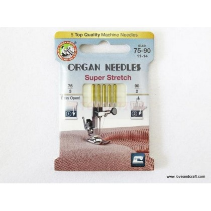*T00372~* Organ Brand Super Stretch Needles