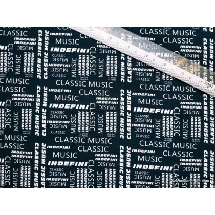 *903160* Lycra Knit: Classic Music Wording (170cm)