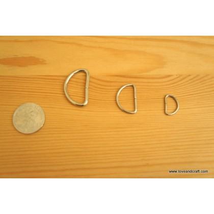 *T00210* D ring: Metal Silver Color 1.0cm-3.2cm