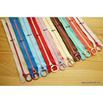 *T10030~* Colorful Plastic Zip 30cm