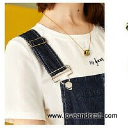 *T00385(10/3)* Overall Buckles Suspenders with Slider Set (3.2cm)