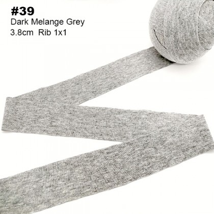 10 Meters Binding Tape Rib 1x1 Knit Spandex For Neck Line, Sleeve, Cuff *70202*