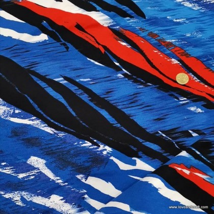 *903583* Lycra Knit: Watercolour Painting (150cm)