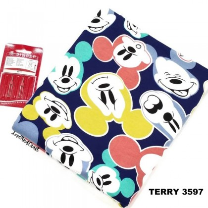 *903597* Sweater/Terry Knit: Colourful Mickey Mouse (180cm)
