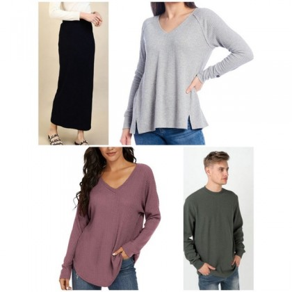Kain Knit Cotton Fabric Waffle Plain 903222