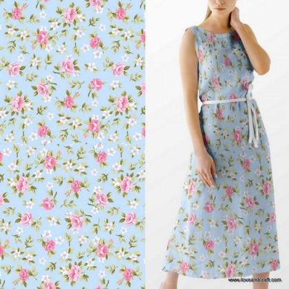 *903658* Milk Silk: Pink Floral (160cm)