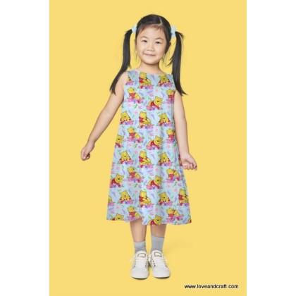 *903666* Milk Silk: Pooh And Flower (160cm)