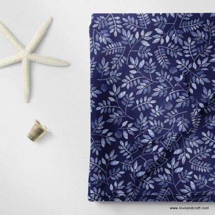 *903672* Milk Silk: Leaves Design (160cm)
